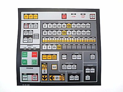 Cnc Machine Keypad Replacement Membraneoverlay 11-12-00. Nos