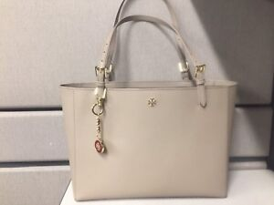 Tory Burch large tote bag with charm