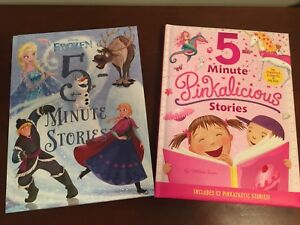 2 kids books-5 minute stories-Disney Frozen & Pinkalicious