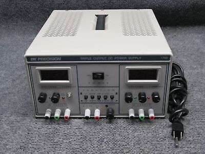Bk Precision Model 1760 Triple Output Dc Power Supply Voltage Meter Tested