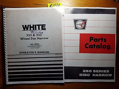 White 252 253 Wheel Disc Harrow Owner Operator Manual 437 028 766 Parts 866