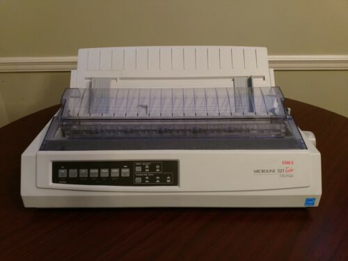 Okidata  321 Turbo Printer - 1Yr Warranty - New USB Cable/Ribbon/Software