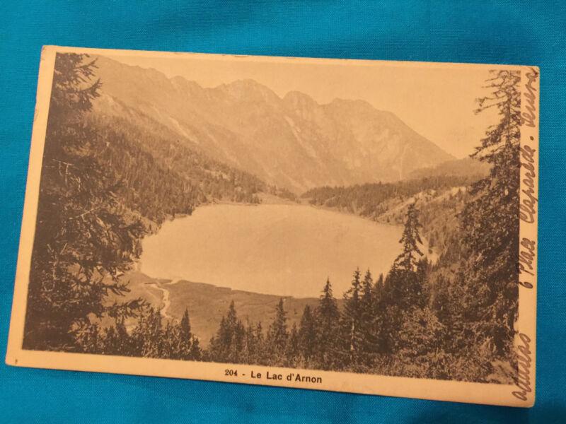 LE LAC D'ARNON POSTCARD VINTAGE 1905
