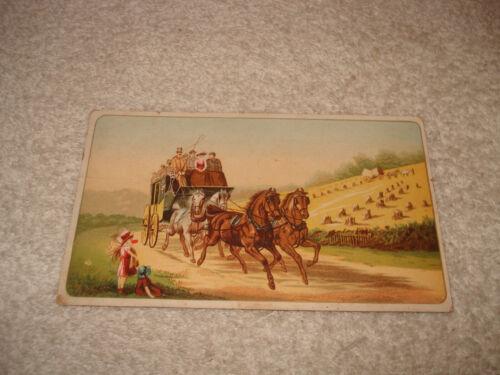 Antique Ariosa Coffee Trade Card wild west stagecoach vintage