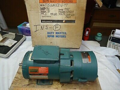 Reliance Electric 34 Hp P56h5216m-55 With Reliance Unibrake F52a1624m-tt
