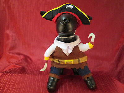 Gr. S Hunde / Katzen Karneval Kostüm Pirat Hundekostüm 3-teilig Katzenkostüm ()
