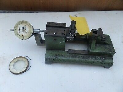 Vintage Quaker City Gear Tester Checker Industrial Machinist W Gauge .001 Usa
