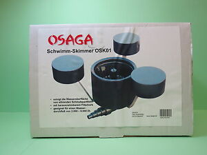 osaga schwimm skimmer osk01 oberfl chenabsauger gartenteich koi teich os10711. Black Bedroom Furniture Sets. Home Design Ideas