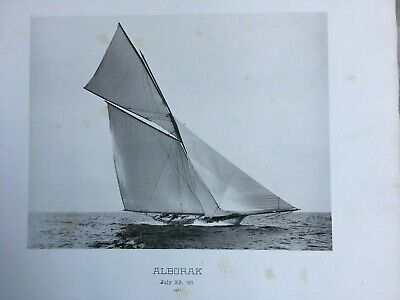 American Racing Yachts, 10 Antique Heliotypes, Portfolio 1891, Peabody for sale  Shipping to Canada