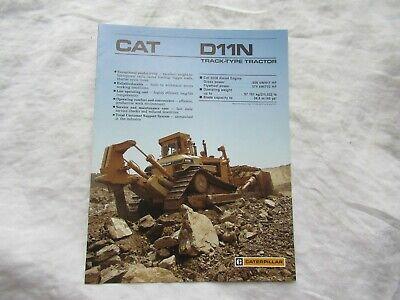 1987 Cat Caterpillar D11n Track-type Tractor Brochure