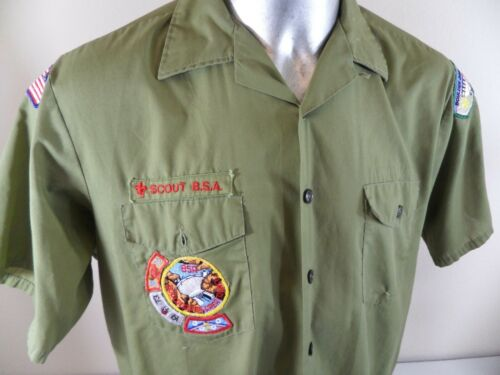1970s Boy Scouts Of America Boulder Dam Nevada Unit Commissioner Shirt Patches