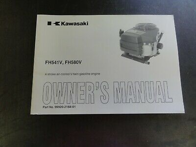 Kawasaki Fh541v Fh580v 4 Stroke Air Cooled V-twin Gasoline Engine Owners Manual
