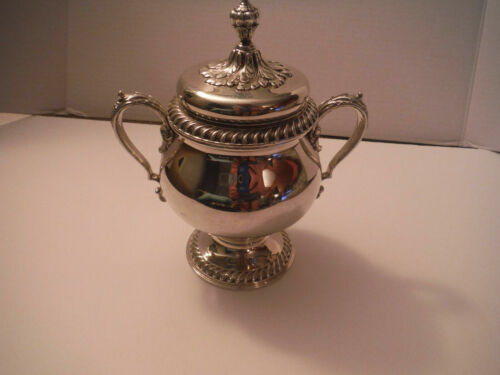Vintage Antique INTERNATIONAL SILVER CO. ST. JAMES Sugar Bowl Pot with Lid