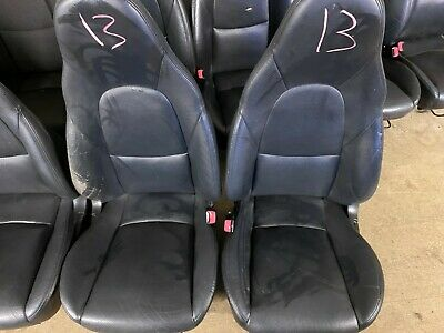 Mazda Mx5 Set of Black Tombstone Leather Seats (A13)