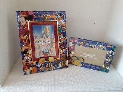 Set of DISNEYLAND 50TH ANNIVERSARY PHOTO FRAME & PHOTO ALBUM Mickey Mouse New (50th Anniversary Photo Album)