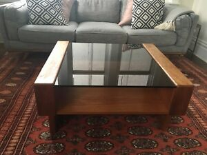 Mid century modern coffee table teak wood