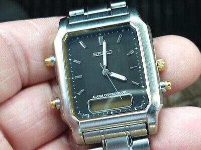 Vintage Seiko analog / digital alarm chronograph men's watch.