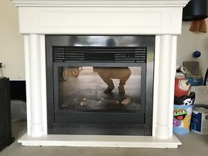 White Electrical Fireplace