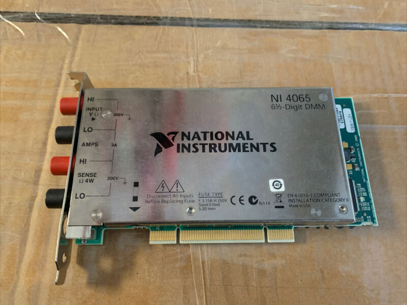 NI PCI-4065 6½-Digit DMM Digital Multimeter Tested National Instruments