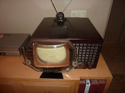 """Working Admiral 7"""" Vintage Tabletop Television Set with Magnifier - Pick Up Only"""