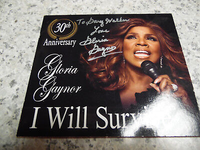 I Will Survive-Gloria Gaynor(CD Single,2009)Autographed/Signed 30th (Gloria Cd Single)