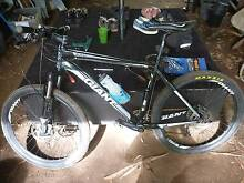 Giant XTC mountain bike, cleats and helmet Tarragindi Brisbane South West Preview