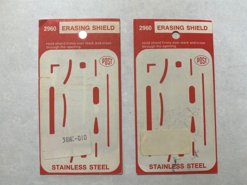 1 Vintage Drafting Drawing Shield Stainless Steel Post 2960