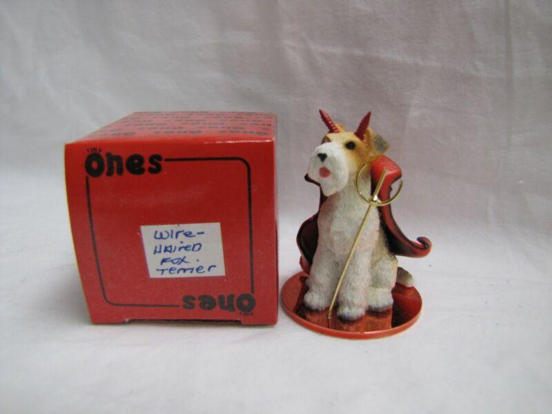 NEW 1997 Halloween Tiny Ones PUPPY DOG FIGURINE Valentine Day DTD-59 FOX TERRIER