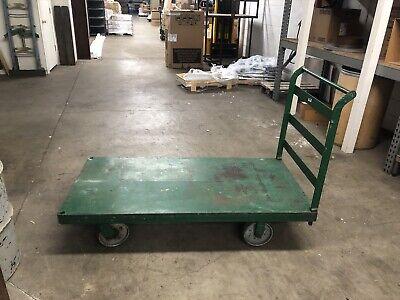 Large Green Metal Cart