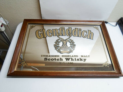 Glenfiddich Scotch Whiskey Wall Mirror 26.5x18.5