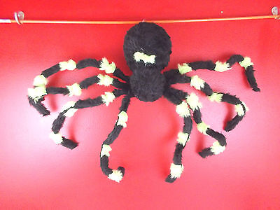 GEMMY Big Motion Activated Dropping Black Spider Sound Effects Light Up Eyes