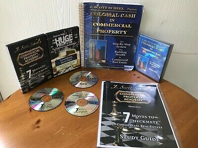 COLOSSAL CASH IN COMMERCIAL PROPERTY SYSTEM BY SCOTT SCHEEL - MANUALS & 8 CD'S!