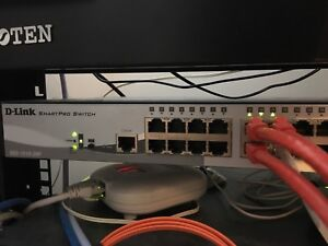 Used  D-Link DGS-1510-28P PoE switch with 10Gb Uplinks