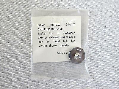 Vintage Bittco Giant Shutter Release Button - Chrome Japan Leica Nikon Canon Canon Remote Shutter Release