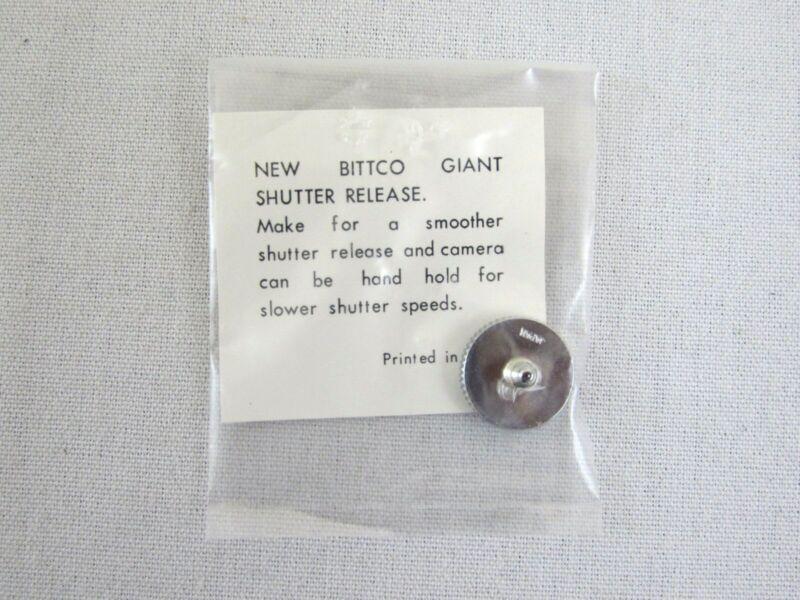 Vintage Bittco Giant Shutter Release Button - Chrome Japan Leica Nikon Canon