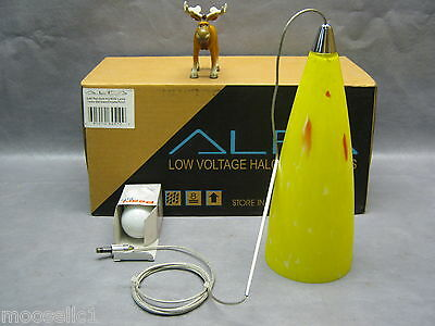 Alfa Lighting G45 Quick Jack Pendant Kit w/60W Bulb Yellow Dot Glass 9 3/4