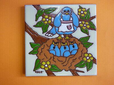 """4 Fawn Baby Deer Bluebird Blue Bird 2/"""" X 1-1//2/"""" Waterslide Ceramic Decals Tx"""