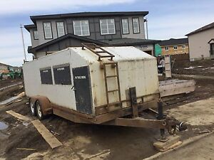 20' enclosed construction trailer (used for siding)