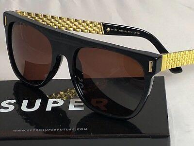 Retrosuperfuture Flat Top Francis Sciuro Gold Sunglasses SUPER S0V NIB