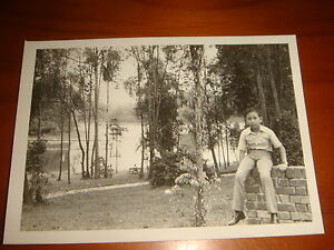 1974-Scenery-inside-Singapore-Zoo-Black-amp-White-Photograph-Nice