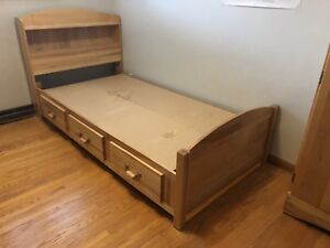High end mates bed two dressers and armour