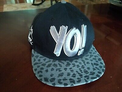 Yo MTV Raps Black White Safari Print Visor New Era Snapback Hat Cap