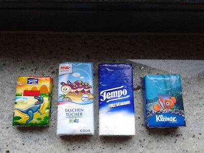 5 Päckchen Kinder-Papiertaschentücher: Tempo,Kleenex, real,-, Regina