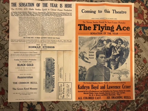 "Black Americana movie pressbook 14x22"" 4 pages The Flying Ace"
