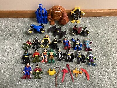 Lot Fisher-Price Imaginext DC Batman Sub Robin Wonder Woman Clayface Parts Cage