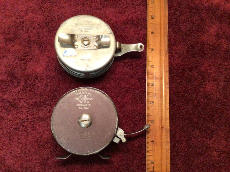 lot fly reels shakespeare OK automatic No. 1824 and No. 1821