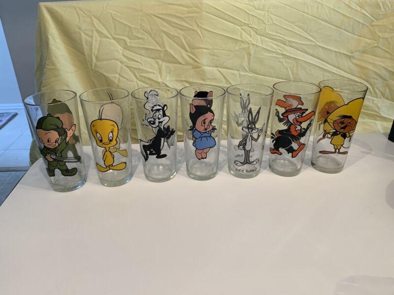 Vintage Pepsi 1973 Looney Tunes Collector Series Glasses Warner Bros *Lot of 13*