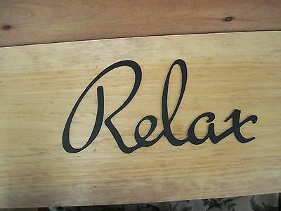 Relax-Black Wrought Iron Wall Art Metal Home ...