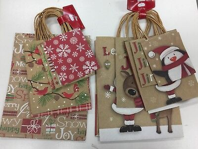 Pack of 8 Christmas Trim-A-Home Gift Bags -2 Lg, 3 Cub, 3 Petite Bags- 2 Designs](Tiny Gift Bags)
