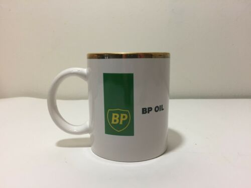 VINTAGE BP OIL GAS OUR MISSION IS... NOS COFFEE CERAMIC MUG CUP IN BOX HOUZE ART